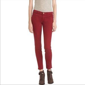 Current Elliot Tibetan Red Ankle Skinny Jeans 25